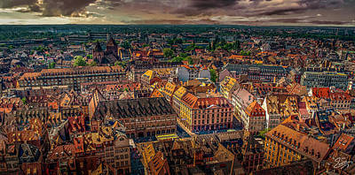 Photograph - Above Strasbourg by Endre Balogh