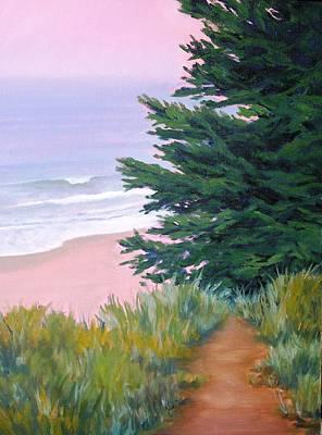 Above The Beach El Capitan Art Print by Dorothy Nalls