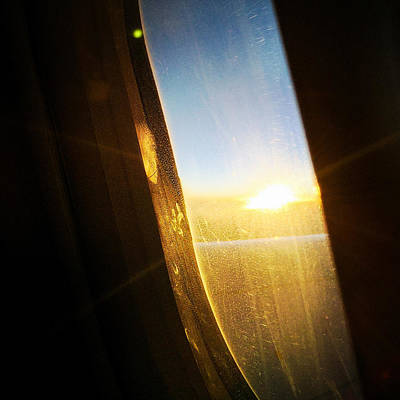 Airplane Photograph - Above The Clouds 05 - Sun In The Window by Matthias Hauser