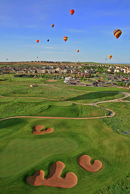 Above The Course Art Print by Scott Mahon
