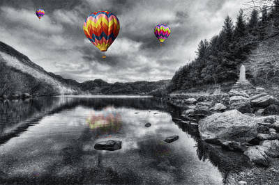 Mountain View Digital Art - Above The Lake by Ian Mitchell