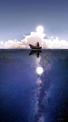 Surreal Digital Art - Above The Night by Cynthia Decker