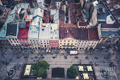Royalty-Free and Rights-Managed Images - Above The Rooftops by Evelina Kremsdorf