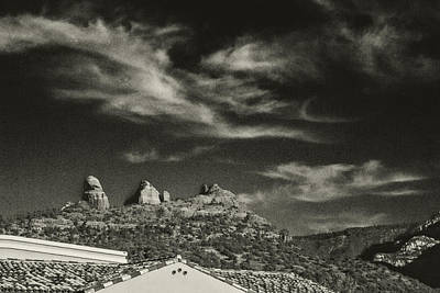 Photograph - Above The Rooftops Sedona Arizona by Roger Passman
