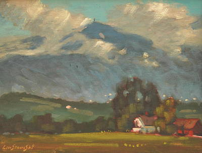 Berkshire Hills Painting - Above Toporowski Farm by Len Stomski
