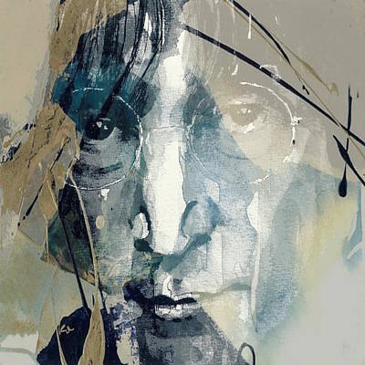 Portrait Mixed Media - Above Us Only Sky  by Paul Lovering