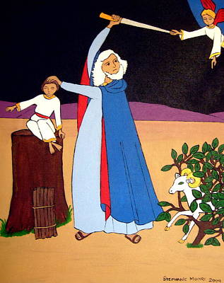Painting - Abraham And Isaac by Stephanie Moore