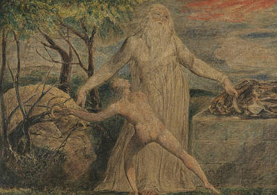 Isaac Painting - Abraham And Isaac by William Blake
