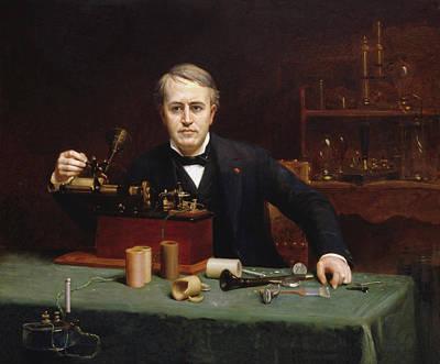 Edison Painting - Abraham Archibald Anderson Thomas Alva Edison 1890 by Movie Poster Prints