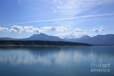 Photograph - Abraham Lake Reflections by Wilko Van de Kamp
