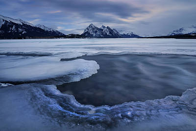 Photograph - Abraham Lake Sans Bubbles by Dan Jurak