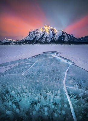 Photograph - Abraham Lake Splendor // Alberta  by Nicholas Parker