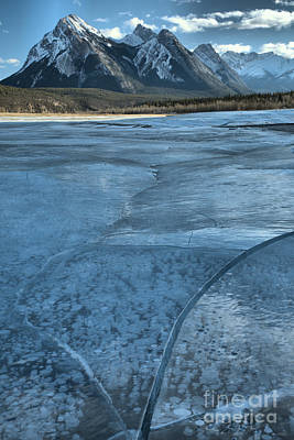 Photograph - Abraham Lake Winter Ice by Adam Jewell