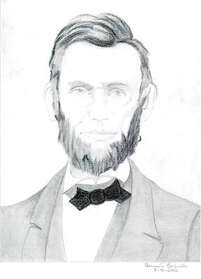 Honest Abe Drawing - Abraham Lincolin Portrait by Bernardo Capicotto