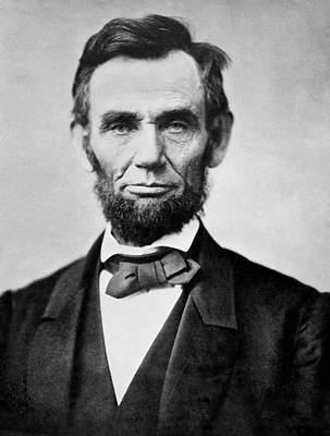 Black Photograph - Abraham Lincoln -  Portrait by International  Images