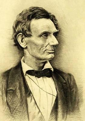 Digital Art - Abraham Lincoln 13 by Abraham Lincoln