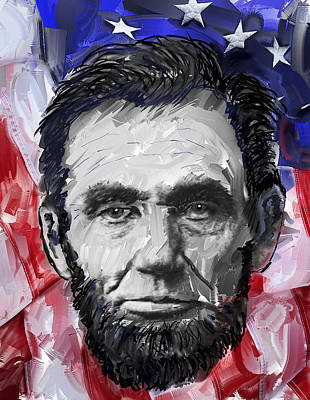 Republican Digital Art - Abraham Lincoln - 16th U S President by Daniel Hagerman