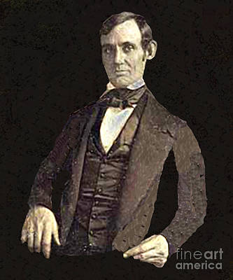 Photograph - Abraham Lincoln 1846 by Merton Allen