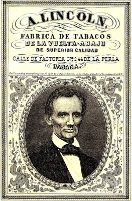 Photograph - Abraham Lincoln 1859 Havana Cigar Label by Peter Gumaer Ogden Collection