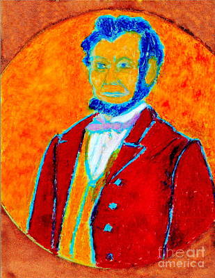Gettysburg Address Painting - Abraham Lincoln 2 by Richard W Linford