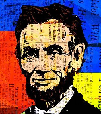 Republicans Mixed Media - Abraham Lincoln-3 Alt by Otis Porritt