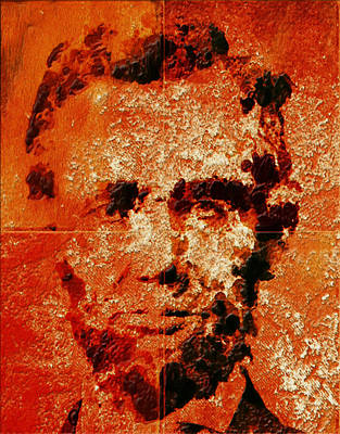 George Bush Mixed Media - Abraham Lincoln 4d by Brian Reaves