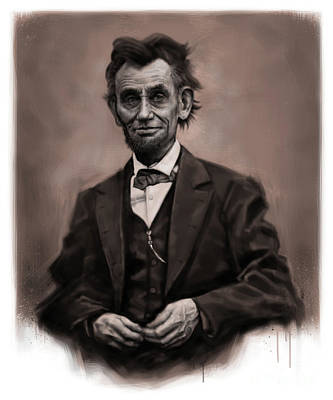 Digital Art - Abraham Lincoln by Andre Koekemoer