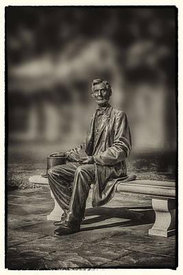 Digital Art - Abraham Lincoln At Gettysburg by John Haldane