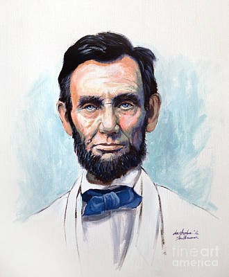 Painting - Abraham Lincoln  by Christopher Shellhammer