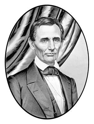 Landmarks Painting Royalty Free Images - Abraham Lincoln Circa 1860 Royalty-Free Image by War Is Hell Store
