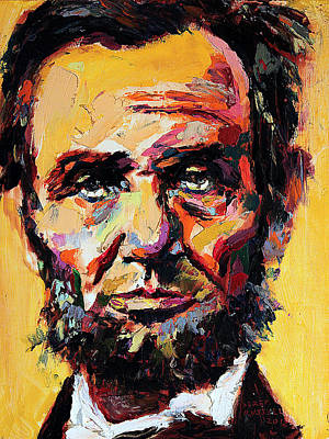 Gettysburg Address Painting - Abraham Lincoln by Derek Russell