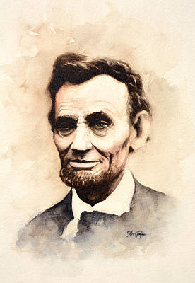 Honest Abe Painting - Abraham Lincoln by Haley Payne