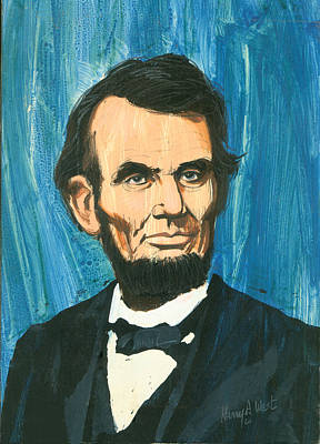 Civil Painting - Abraham Lincoln by Harry West