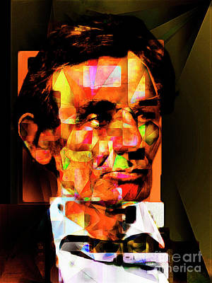 Abraham Lincoln In Abstract Cubism 20170402 Art Print by Wingsdomain Art and Photography