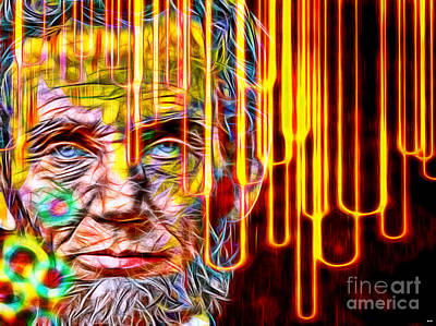 Statesman Mixed Media - Abraham Lincoln In Color by Daniel Janda