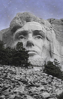 Hand Carved Photograph - Abraham Lincoln by Juli Scalzi