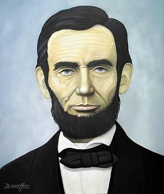 Honest Abe Painting - Abraham Lincoln by Mark Barnett