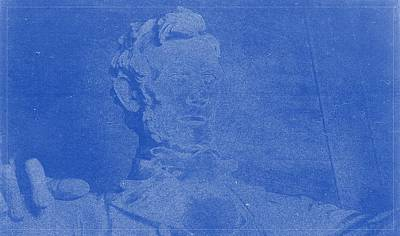 Lincoln Memorial Painting - Abraham Lincoln Memorial Washington Dc Blueprint by Celestial Images