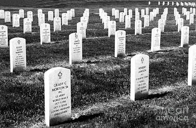 Photograph - Abraham Lincoln National Cemetery by John Rizzuto