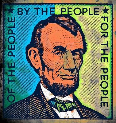 16th President Mixed Media - Abraham Lincoln by Otis Porritt