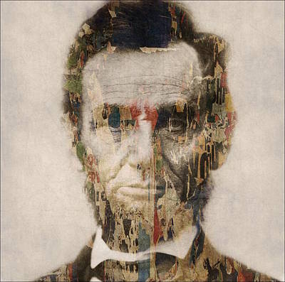 Politicians Mixed Media - Abraham Lincoln  by Paul Lovering