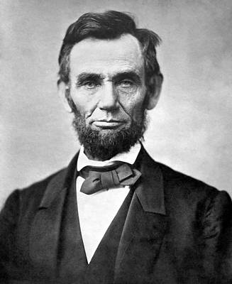 Outerspace Patenets Rights Managed Images - Abraham Lincoln Portrait - 1863 Royalty-Free Image by War Is Hell Store
