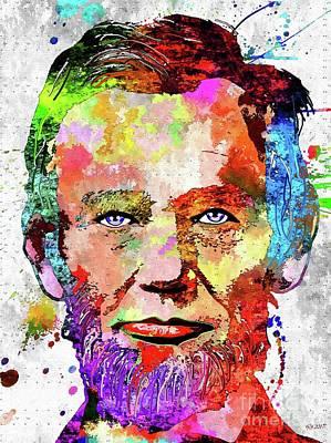 Politicians Mixed Media - Abraham Lincoln Portrait by Daniel Janda