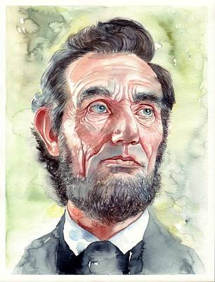 Abraham Lincoln Wall Art - Painting - Abraham Lincoln Portrait by Suzann's Art