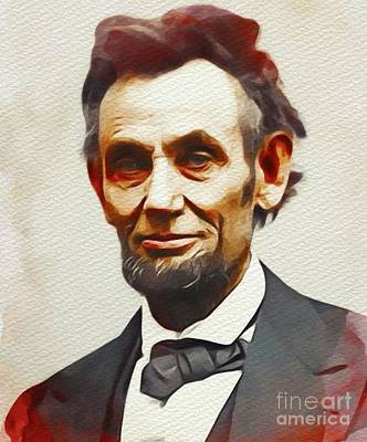 Politicians Paintings - Abraham Lincoln, President of the U.S.A. by John Springfield
