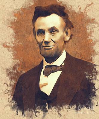Politicians Rights Managed Images - Abraham Lincoln, President, United States of America Royalty-Free Image by Mary Bassett
