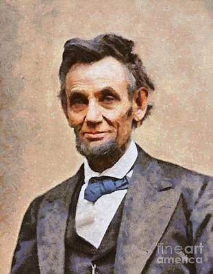 Airforce Painting - Abraham Lincoln, President Usa by Mary Bassett