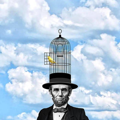 Election Day Digital Art - Abraham Lincoln Presidential Canary by Garaga Designs