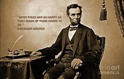 Gettysburg Address Painting - Abraham Lincoln Quote One by John Malone