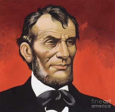 Painting - Abraham Lincoln by Ron Embleton